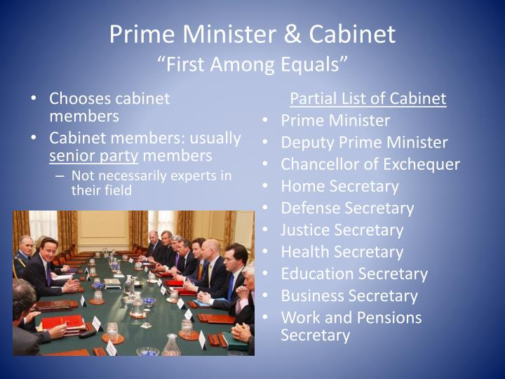 To what extent is the prime minister first among equals