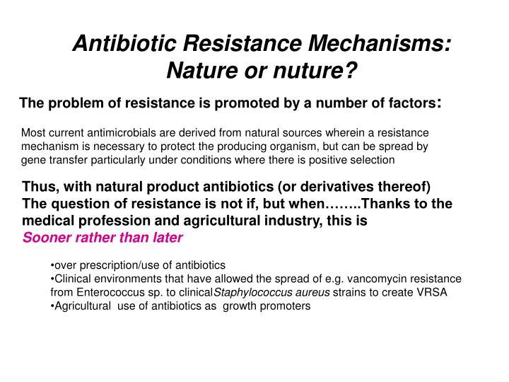 Antibiotic Resistance Mechanisms: