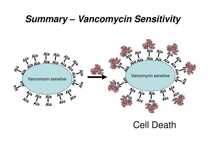 Vancomycin sensitive
