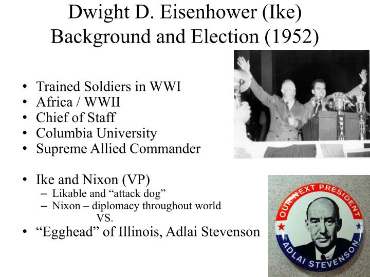 dwight d eisenhower ike background and election 1952