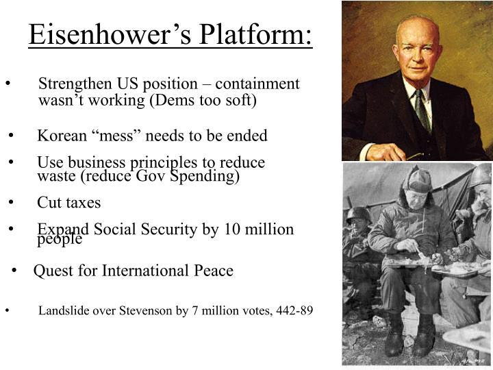 Eisenhower's Platform: