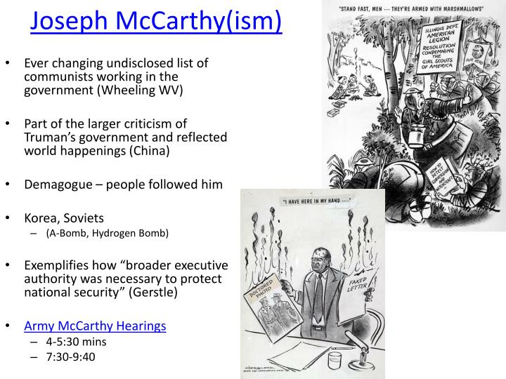 Joseph McCarthy(ism)