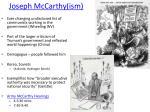 joseph mccarthy ism
