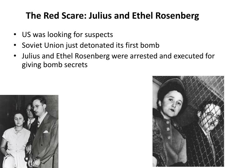 The Red Scare: Julius and Ethel Rosenberg