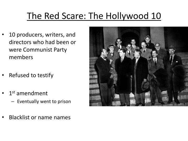 The Red Scare: The Hollywood 10