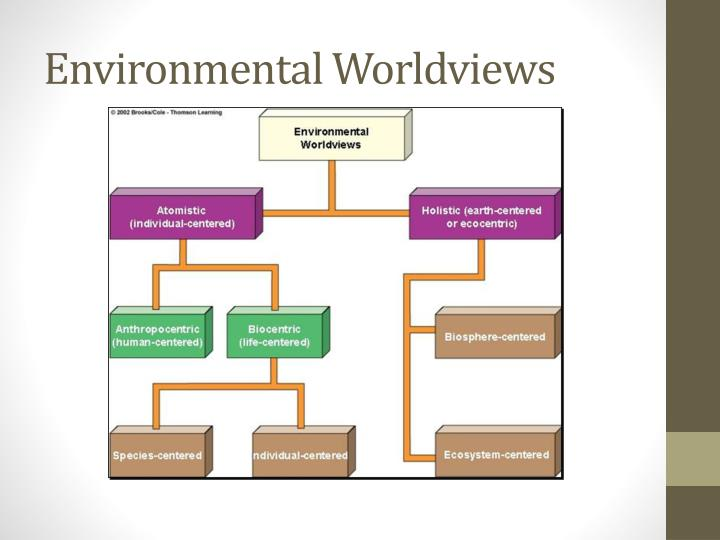 environmental worldviews Abstract this study explored environmental worldviews of selected  undergraduate students in taiwan and located the associations of these  worldviews with.