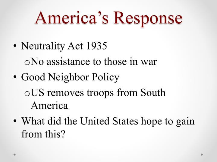America's Response