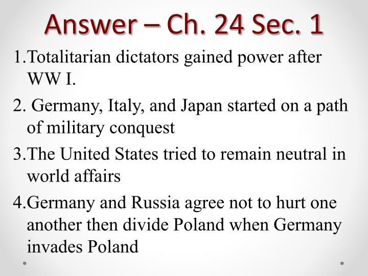 Answer – Ch. 24 Sec. 1
