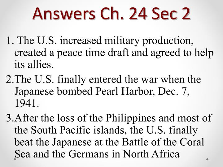 Answers Ch. 24 Sec 2
