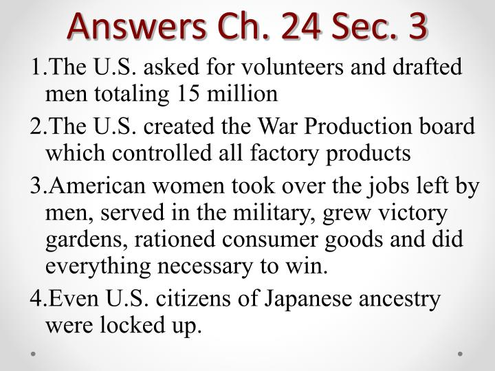 Answers Ch. 24 Sec. 3