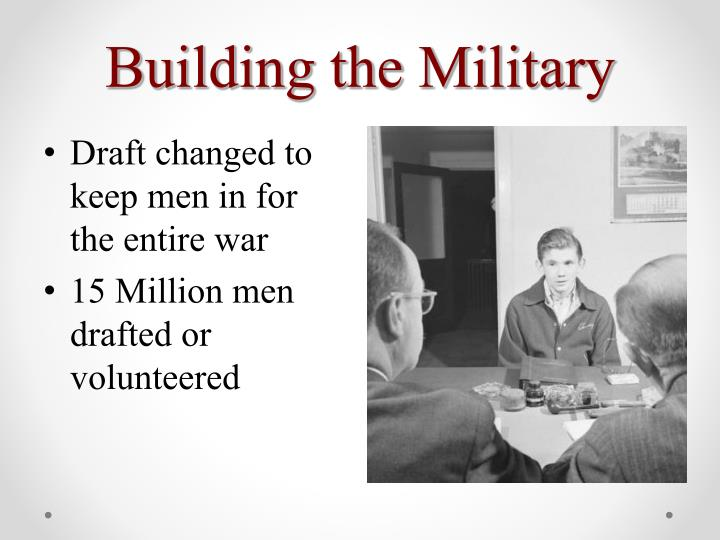 Building the Military