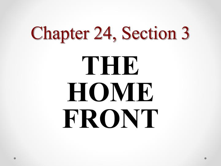 Chapter 24, Section 3
