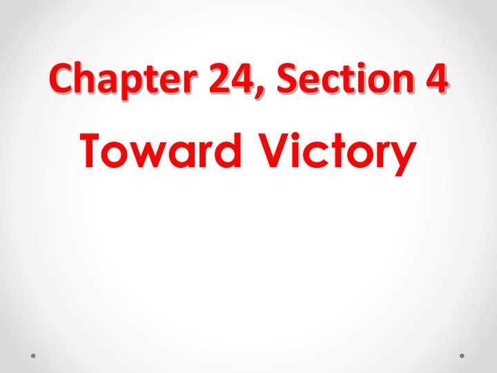 Chapter 24, Section 4