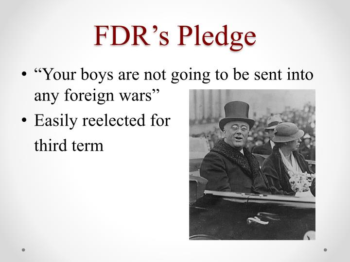 FDR's Pledge