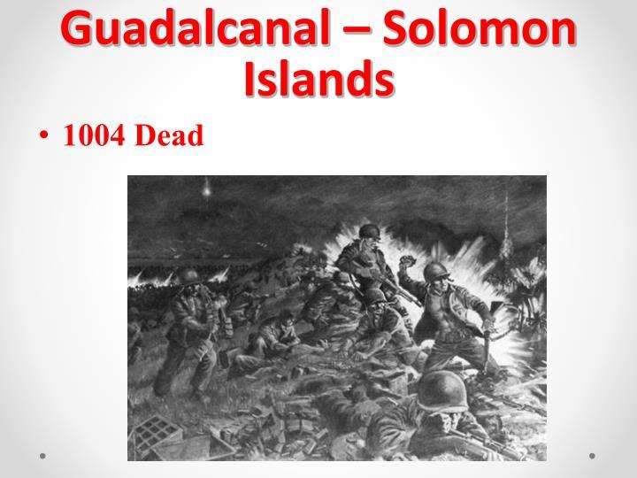 Guadalcanal – Solomon Islands