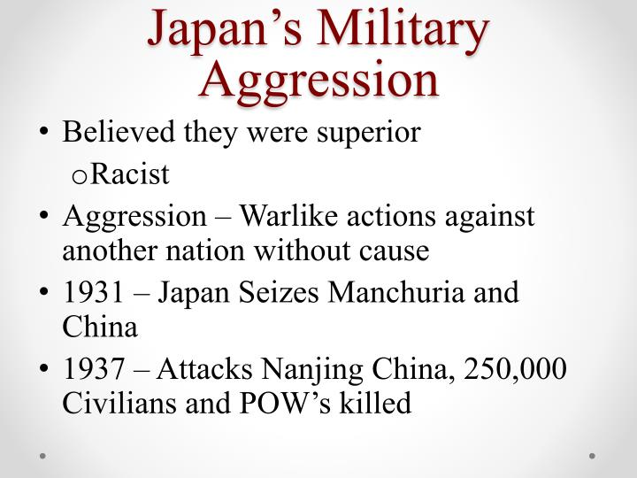 Japan's Military Aggression