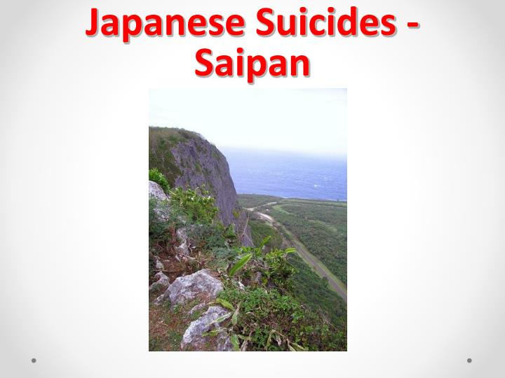 Japanese Suicides - Saipan