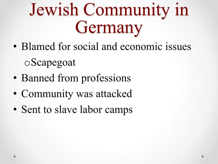 Jewish Community in Germany