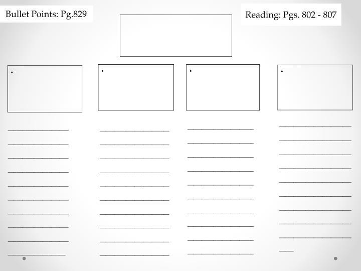 Reading: Pgs. 802 - 807