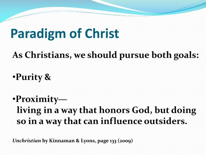 Paradigm of Christ