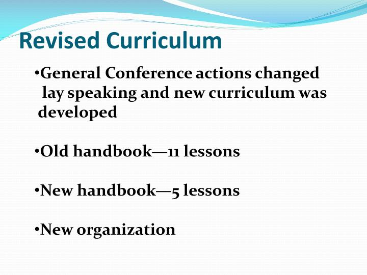 Revised Curriculum