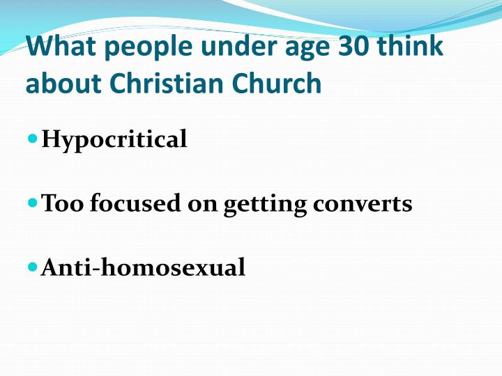 What people under age 30 think about Christian Church