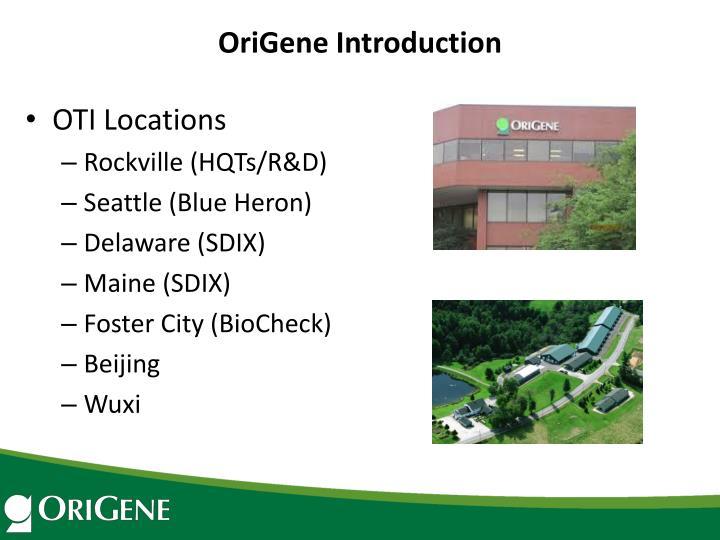 OriGene Introduction