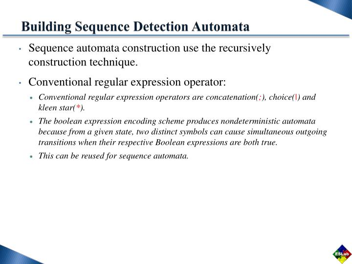 Building Sequence Detection Automata