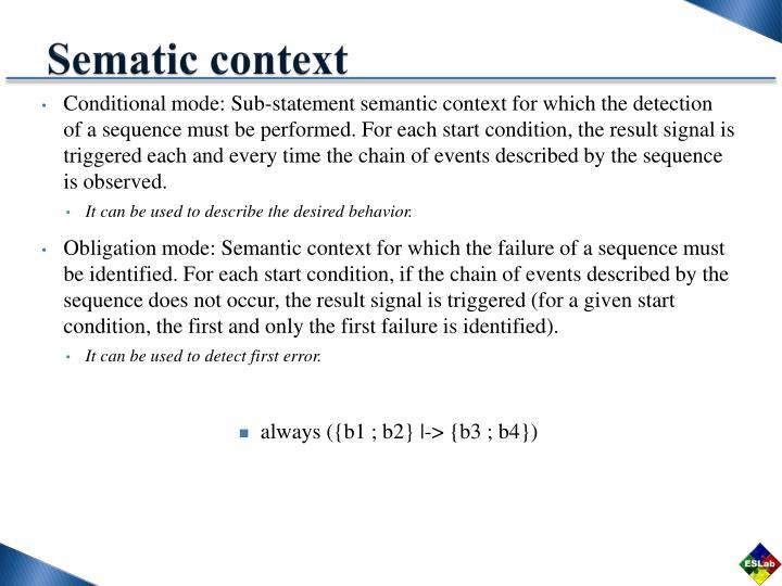 Sematic context