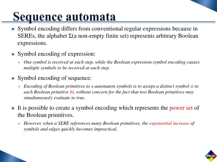Sequence automata