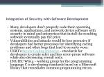 integration of security with software development