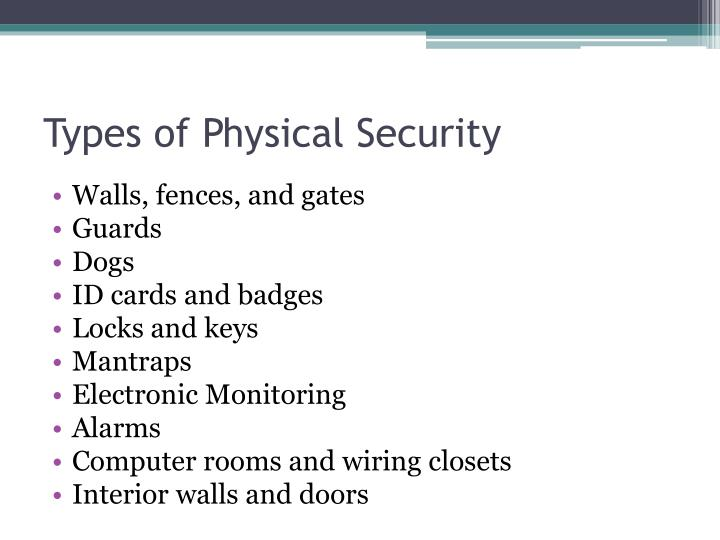 Types of Physical Security