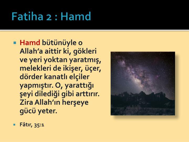Fatiha 2 : Hamd