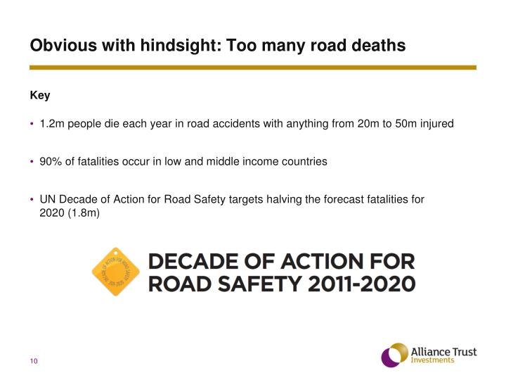 Obvious with hindsight: Too many road deaths