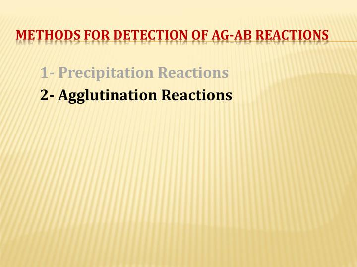 1- Precipitation Reactions