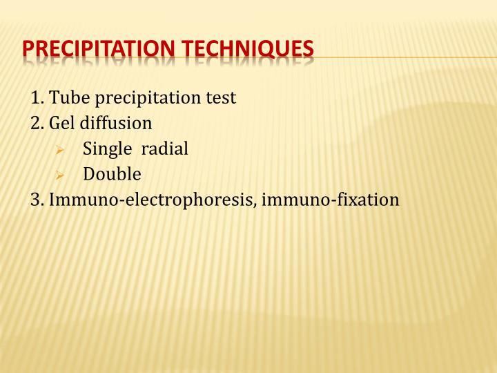 1. Tube precipitation test