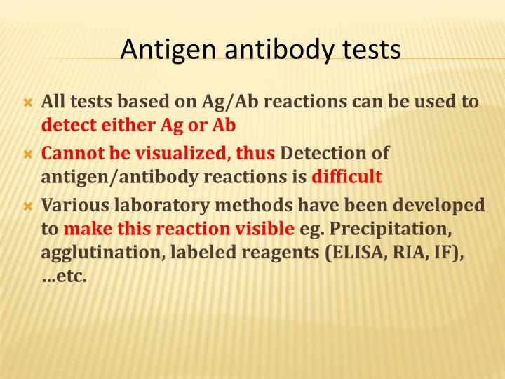 All tests based on Ag/