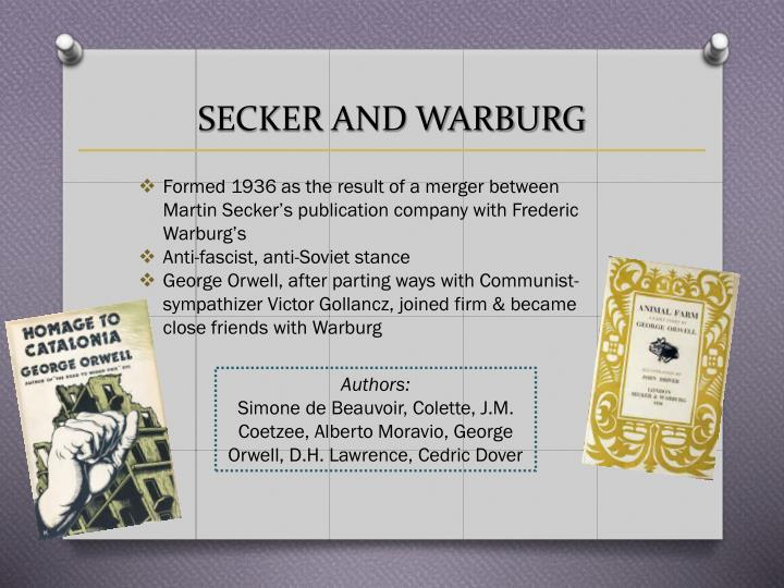 SECKER AND WARBURG