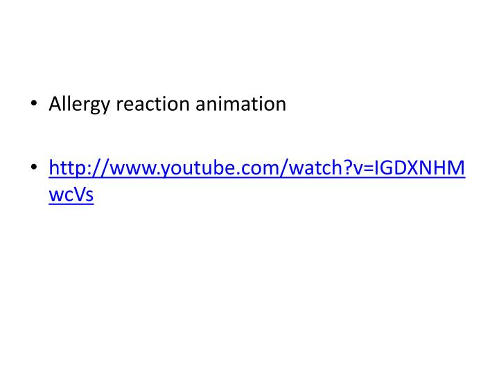 Allergy reaction animation