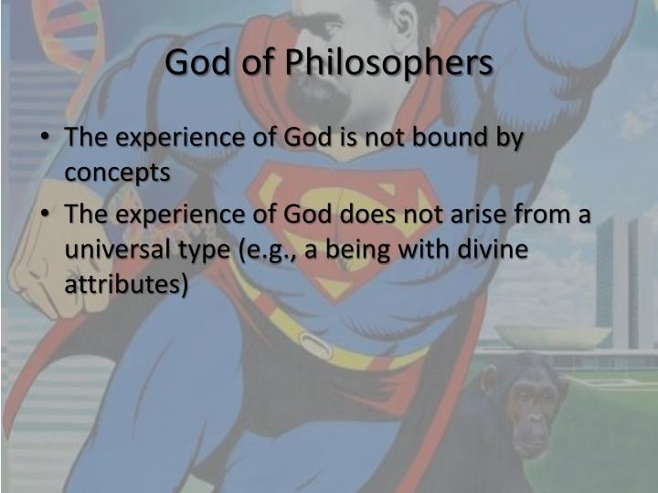 God of Philosophers