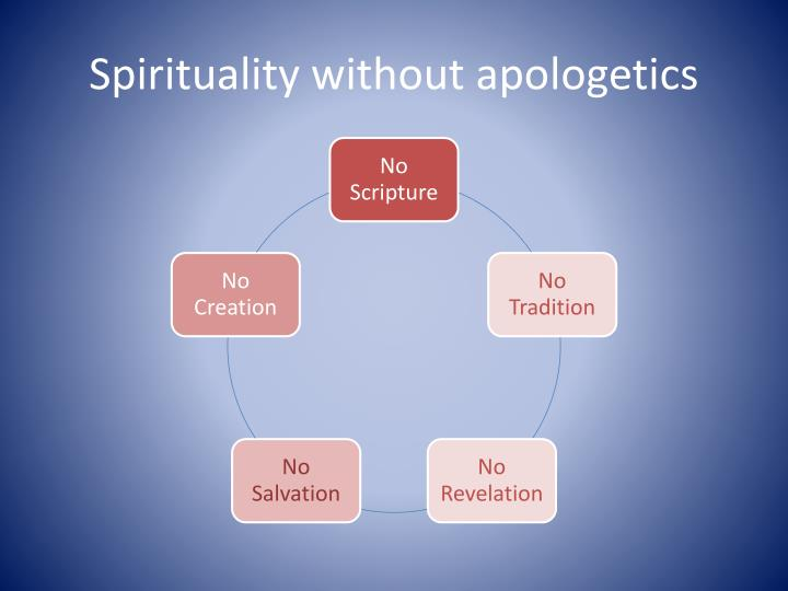 Spirituality without apologetics