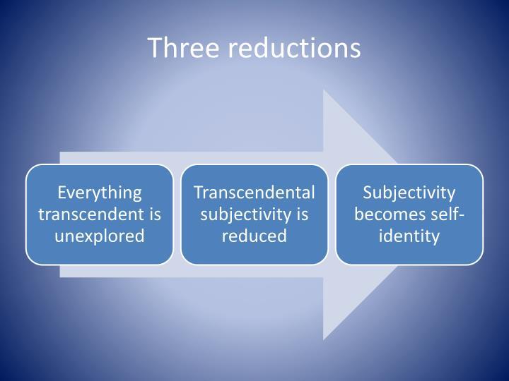 Three reductions