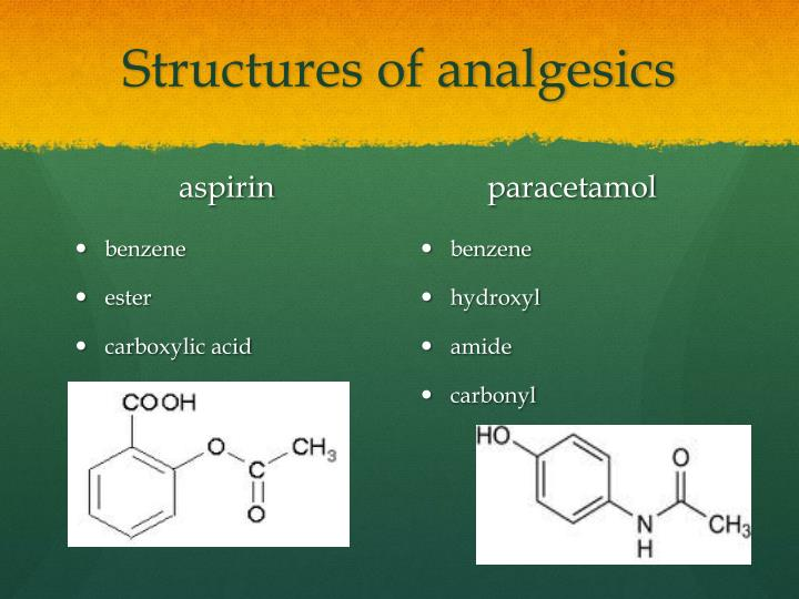 Structures of analgesics