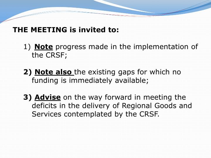 THE MEETING is invited to: