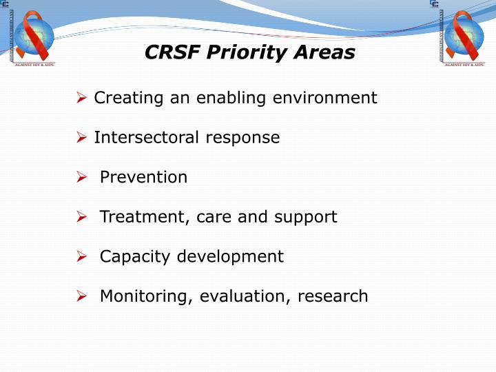 CRSF Priority Areas