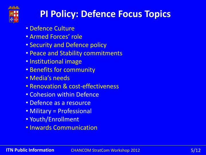 PI Policy: