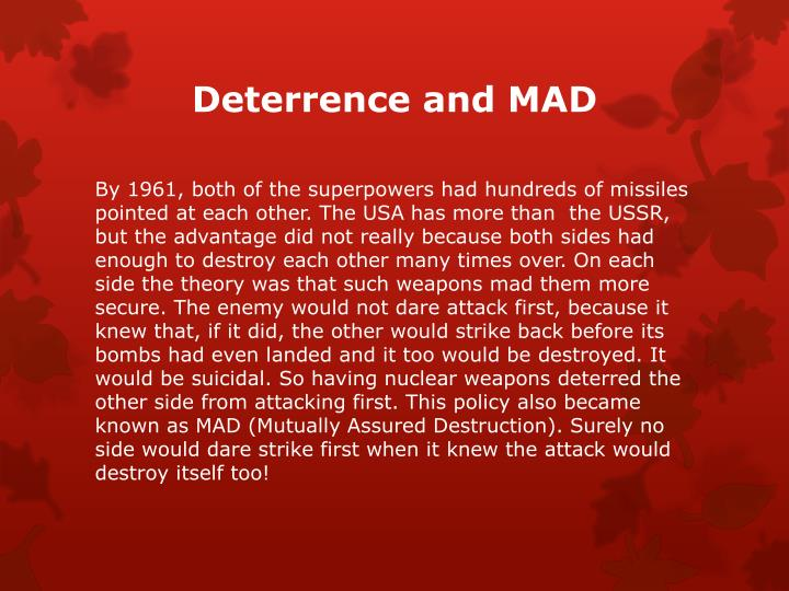 Deterrence and MAD