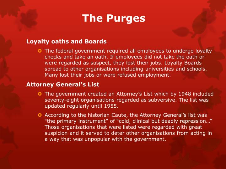 The Purges
