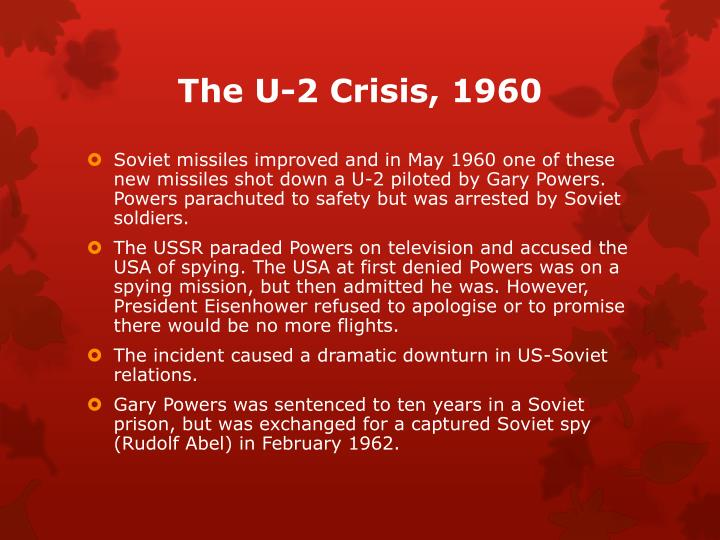 The U-2 Crisis, 1960