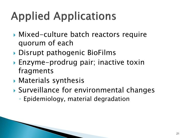 Applied Applications